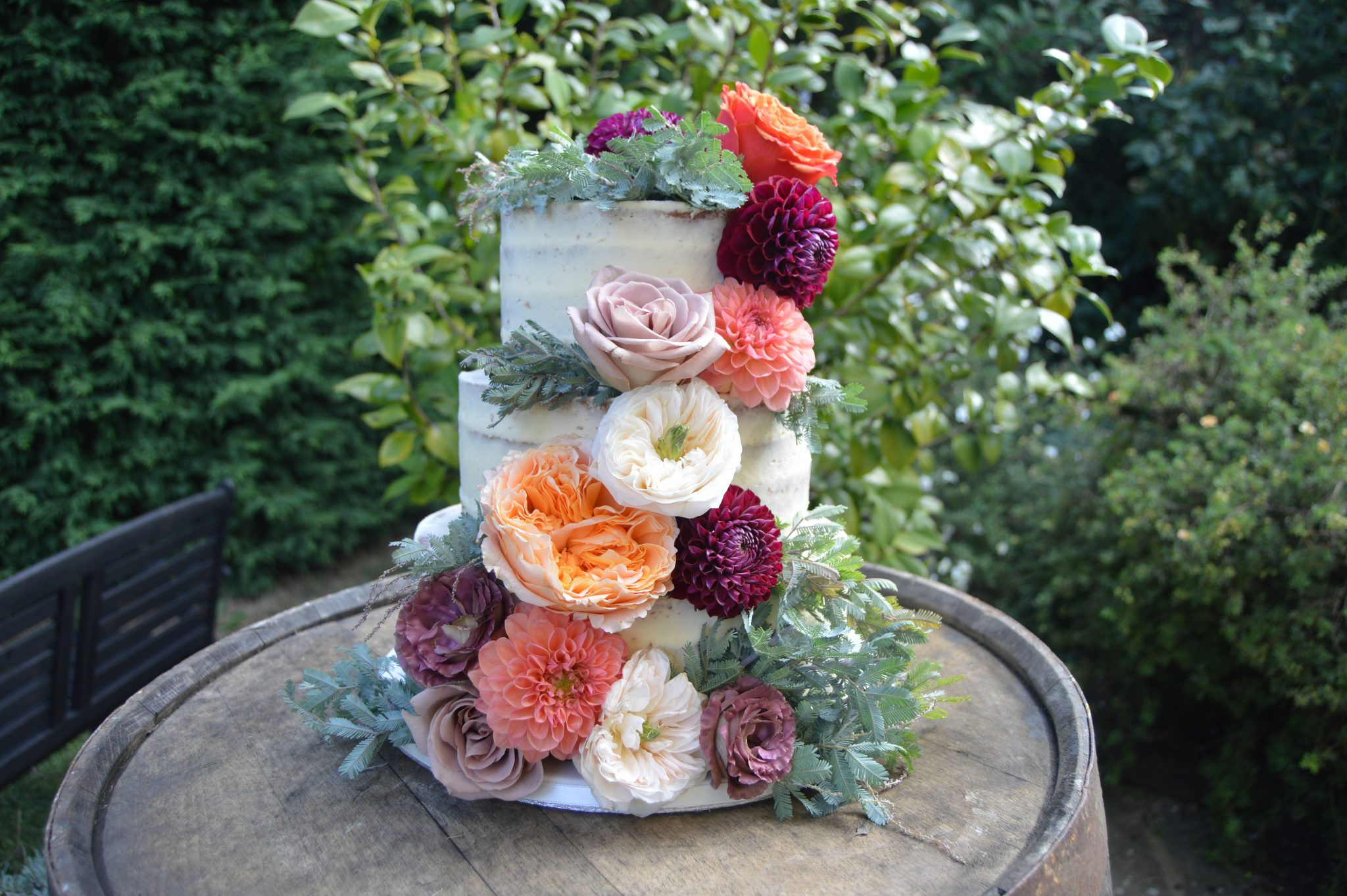 Nic's Slice of Heaven floral buttercream wedding cake